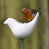 Porcelain Bird Feeder