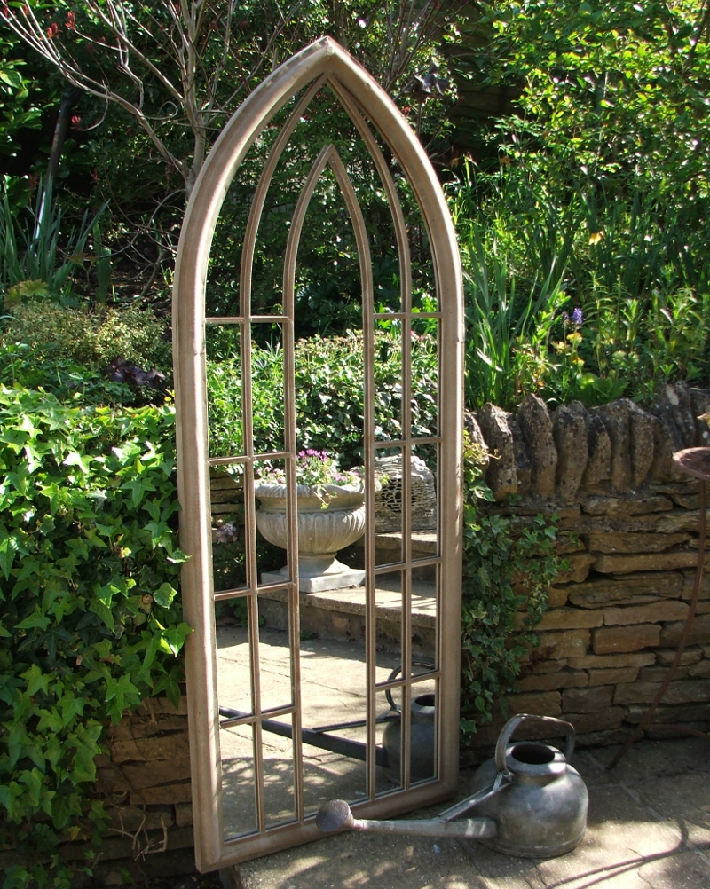 Large garden mirror for Miroir de decoration