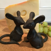 Cast Iron Pair of Mice