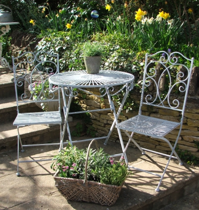 Blockley Antique Grey Bistro Set