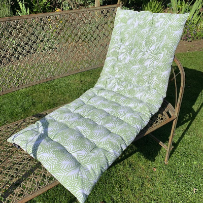 Seat Pad Bench Green Fern