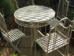 Large French Ivory Bistro Set