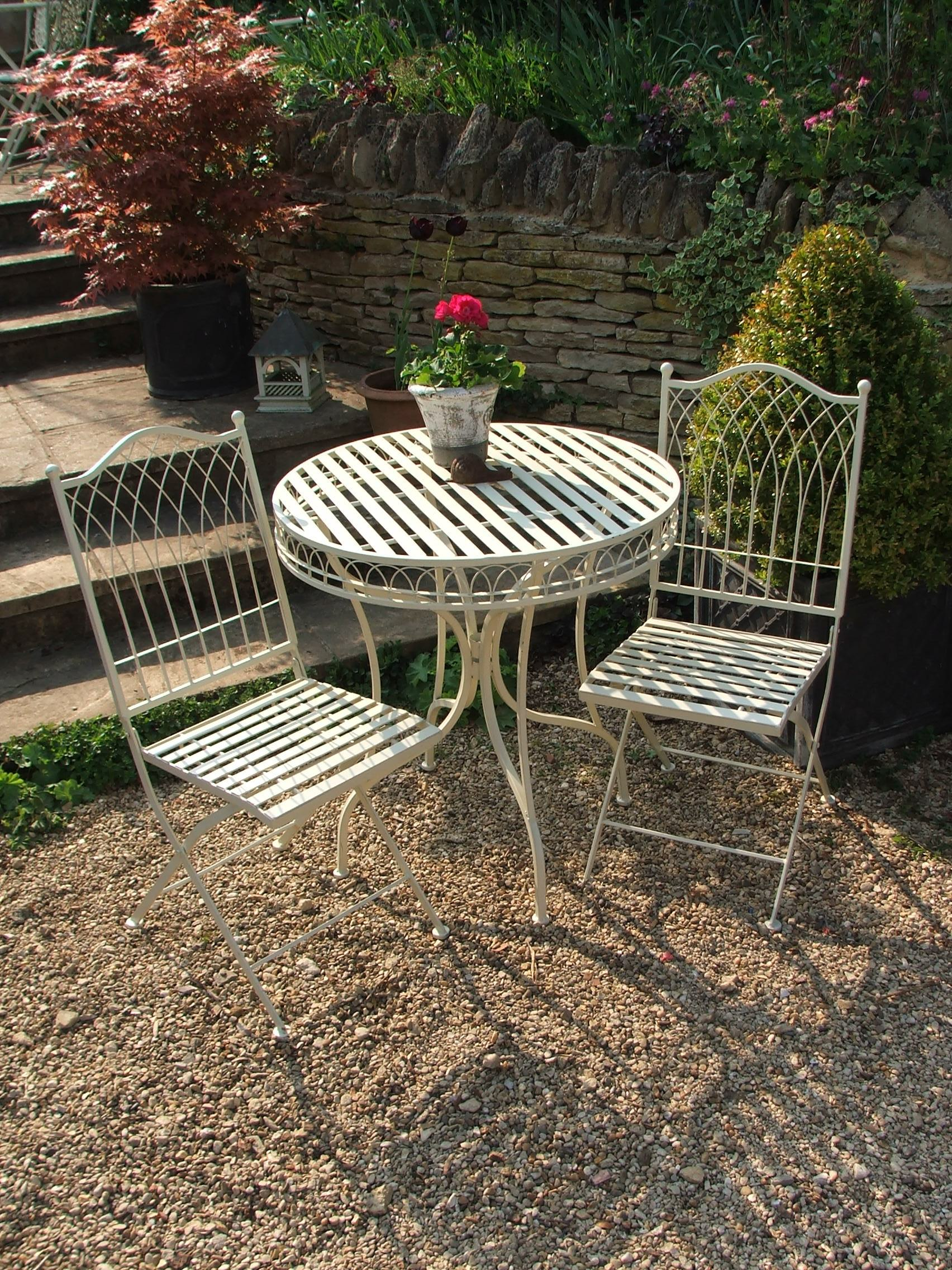 & French Ivory Bistro Set