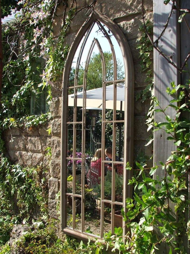 Large garden mirror for Jardin deco