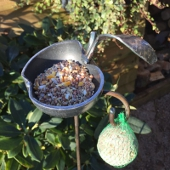 Freestanding Apple Bird Feeder