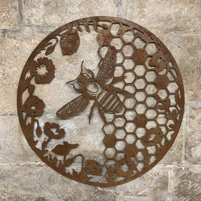 Honeycombe & Bee Wall Art