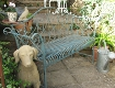 French Blue Vintage Bench