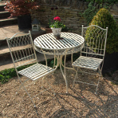 French Ivory Bistro Set