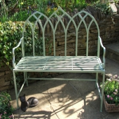 Gothic Bench Heritage Green
