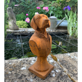 Cast Iron Dog Bust